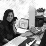 receptionist_phone_bw